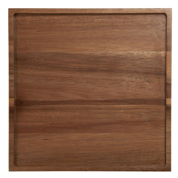 Holztablett quadratisch, Akazi