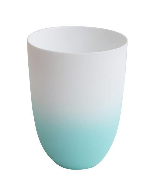 Vase/ Windlicht aqua