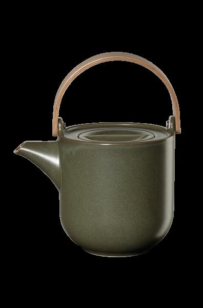 Teekanne mit Holzgriff, nori