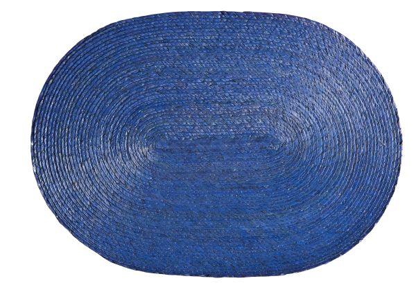 Tischset oval, blau