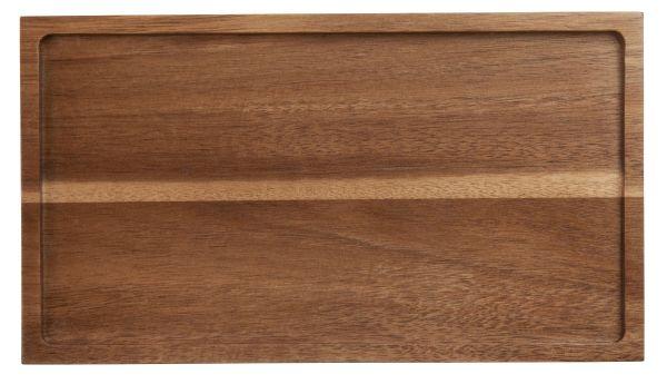 Holztablett rechteckig Akazie