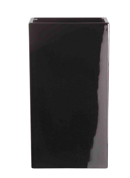 Vase, schwarz glänzend