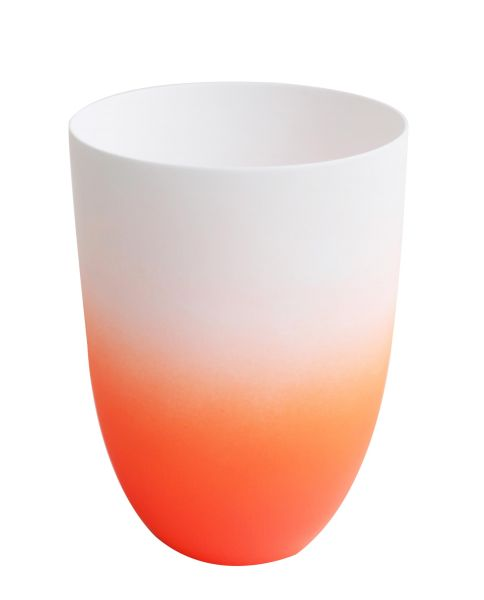 *Vase/ Windlicht orange