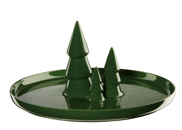 Teller mit 3 Tannenbäumen, kale